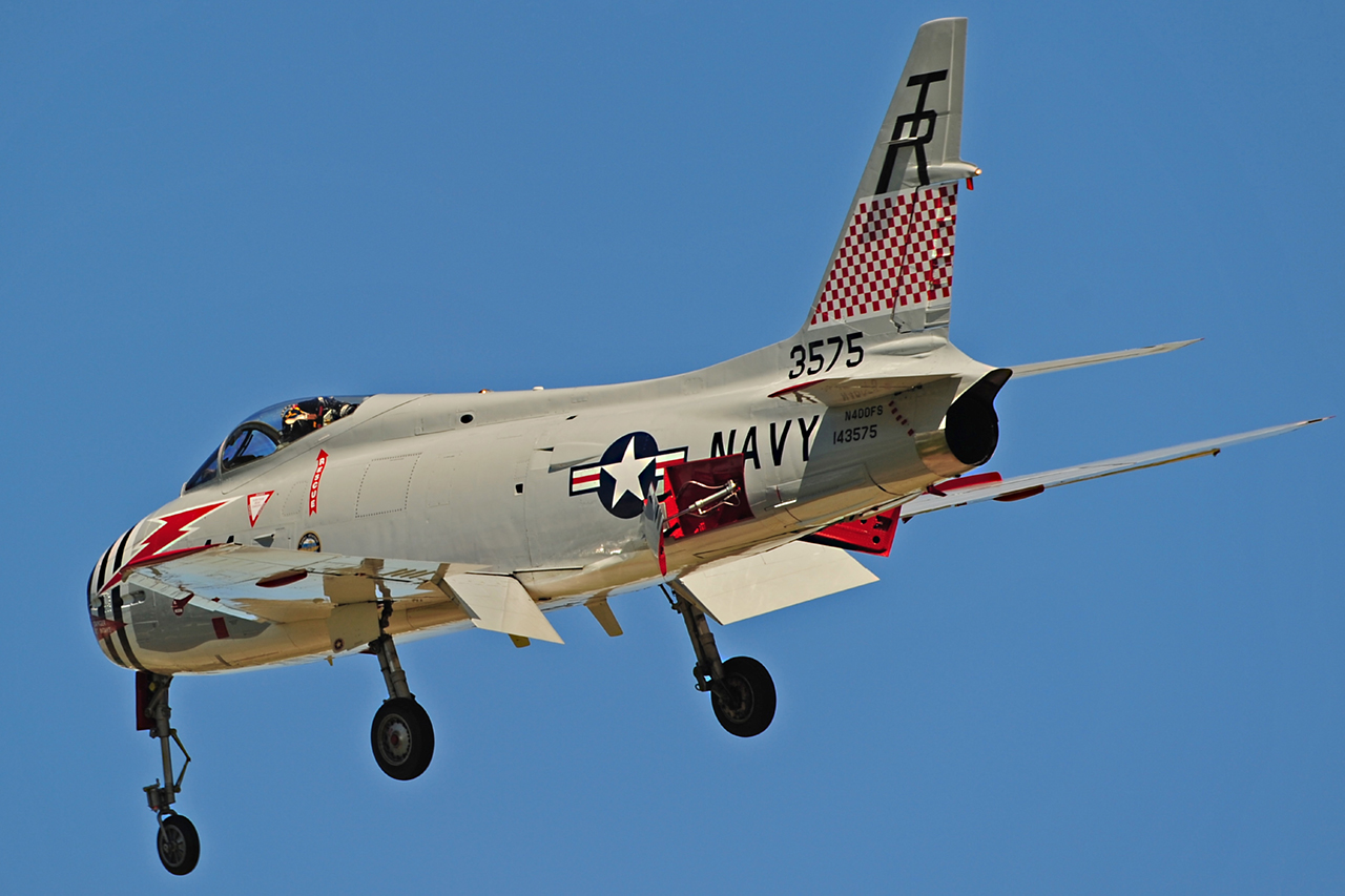 North American FJ-4B FURY  -  © by Shawn Clish